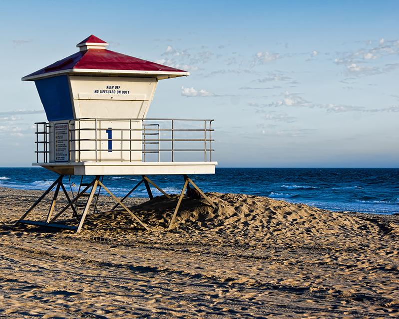 guard house on beach