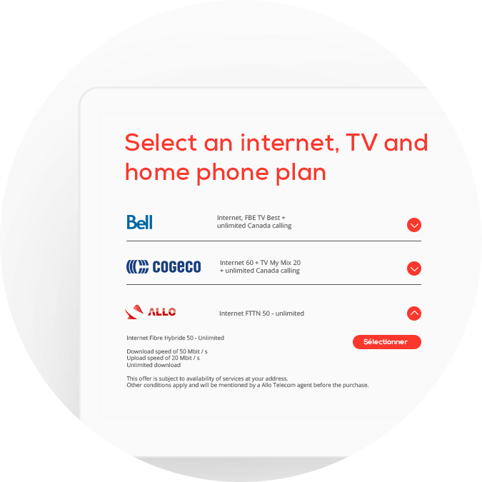 Transfer internet tv and home phone