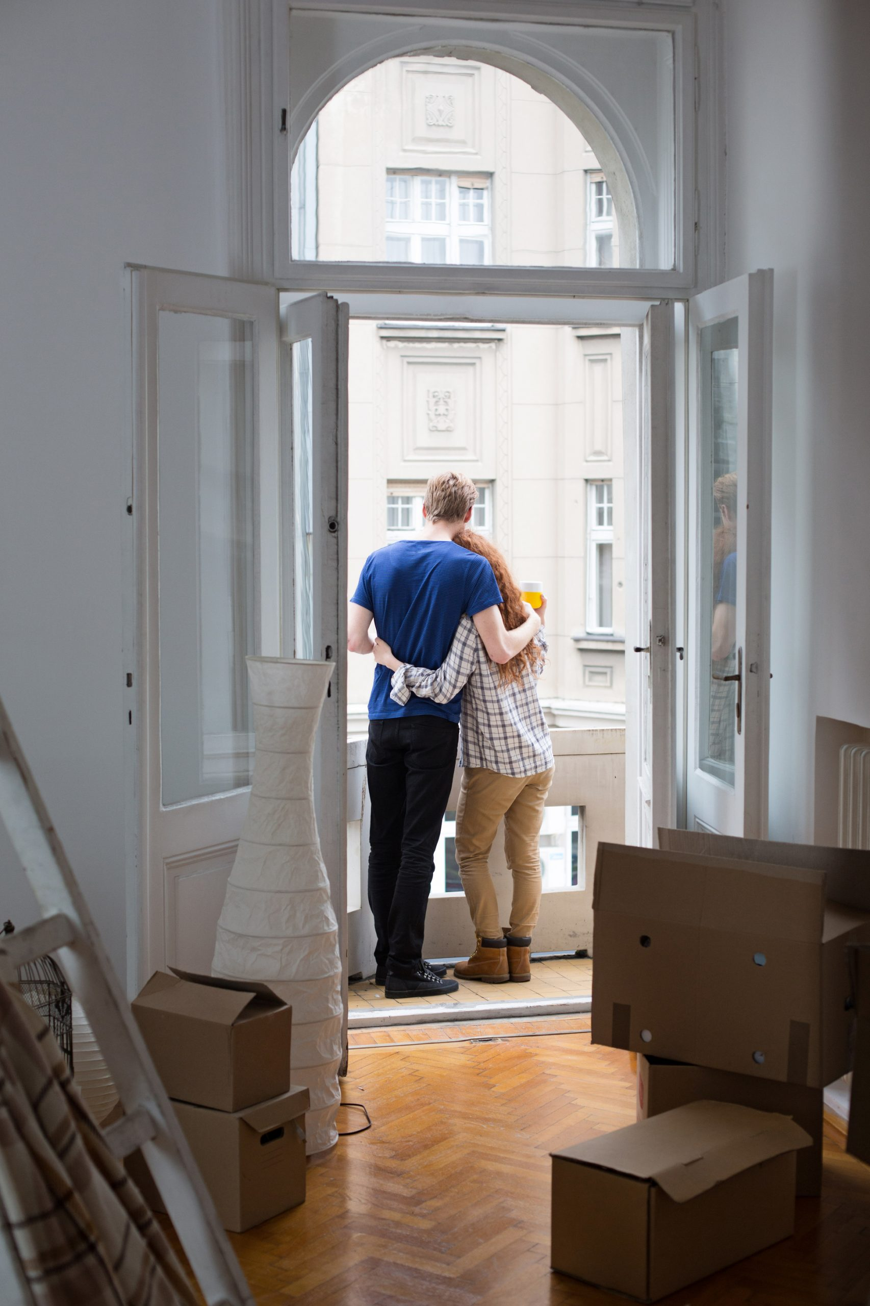Couple in Their New Apartment