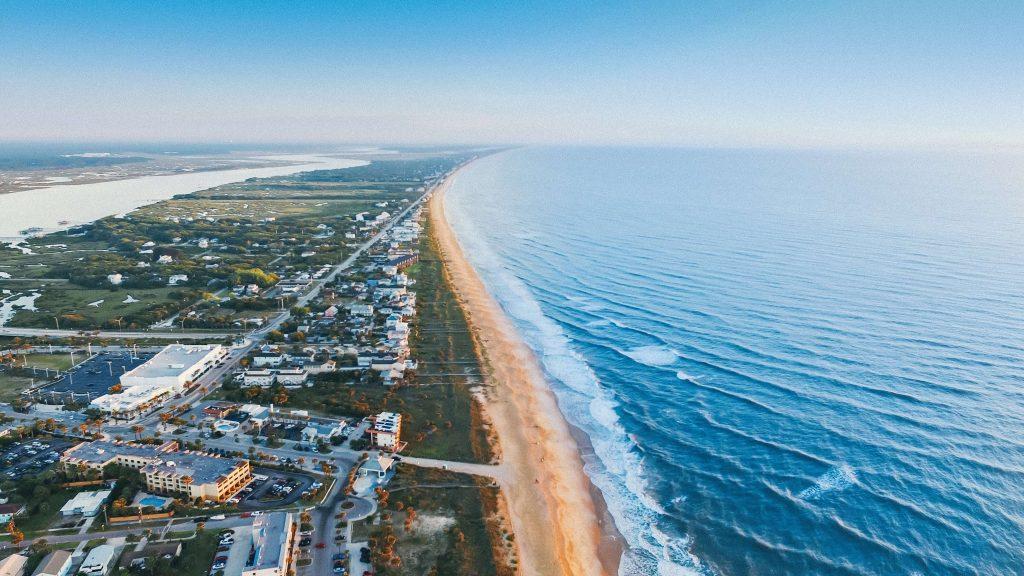 beach with ocean
